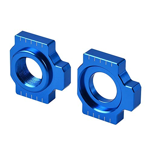 ZRNG Axle Blocks Kettenspanner gepasst for Husqvarna Enduro Supermoto 701 2016 2017 2018 2019 VITPILEN 701 2018-2019 Motorradzubehör (Color : Blue)