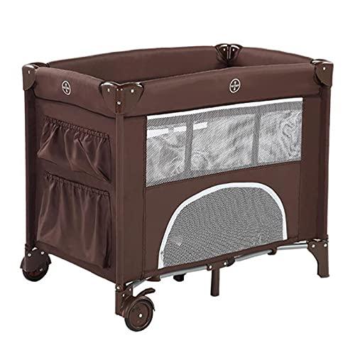 zcyg Cuna de Viaje Cuna De Bebé, Cuna De Viaje Compacta Fácil De Transportar Cama Plegable Cama para Bebé, 85 * 50 * 73cm(Color:marrón)