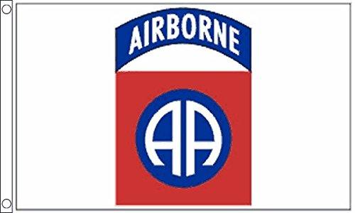 Flagtex Unisex's 82Nd Airborne vlag, meerkleurig, groot