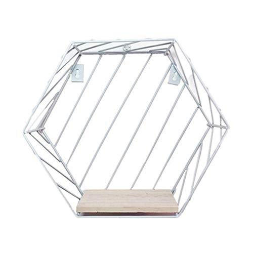MINGMIN-DZ Dauerhaft Moderne Tisch Vase Hexagon Metallblumen-Blumentopf Tray Cube Pergola Garten Bepflanzung Blume Home Decoration (Color : Twill White L)