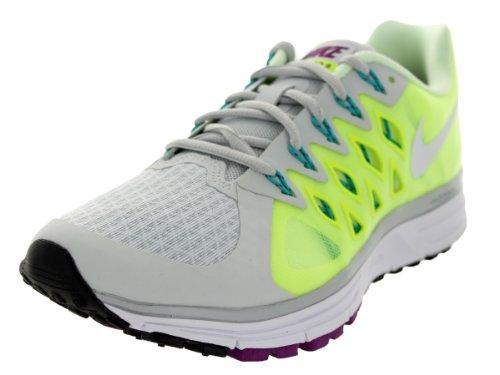 Nike Wmns Zoom Vomero 9, Zapatillas de Running para Mujer, Plateado (Pr Platinum/White-Vlt-Brly Vlt), 38 EU