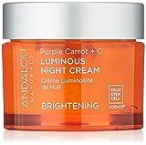 Andalou Natural Purple Carrot + C Luminous Night Cream, Purple Carrot Plus C Luminous, 1.7 Ounce