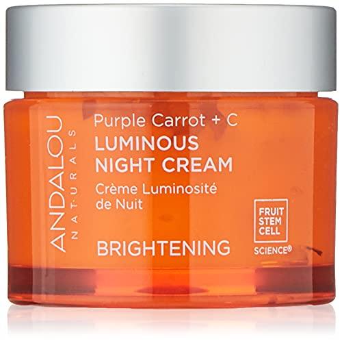 Andalou Natural Purple Carrot + C Luminous Night Cream,...