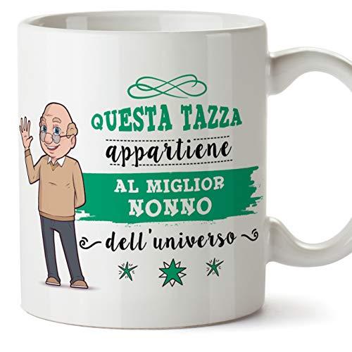 Mugffins Nonno Tazza/Mug - Questa Tazza Appartiene al Miglior Nonno dell'Universo - Idea Regalo Festa del papà/Tazza Miglior Nonno in Ceramica. 350 m