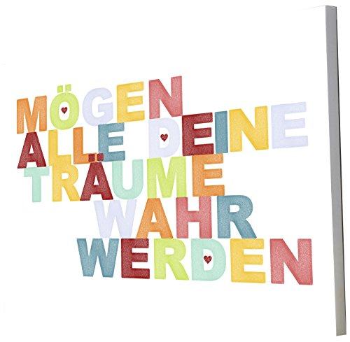 Little Helper Tableau décoratif pour chambre d'enfant Inscription en allemand \