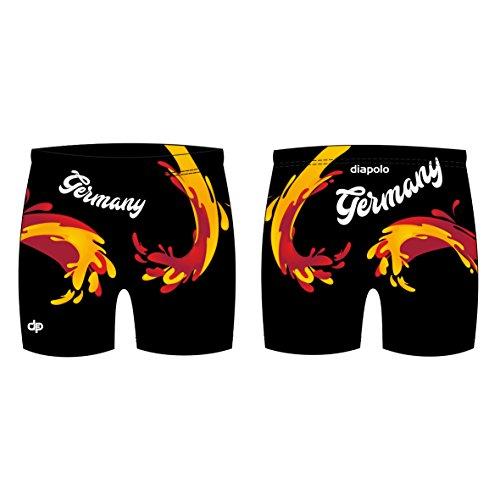 Diapolo Professionale Schwimmhose Deutschland Badehose Boxerhose Shorts Boxershorts Schwimmshorts Badeshorts für Herren Männer S M L XL XXL (Germany Maxi Boxer, M)