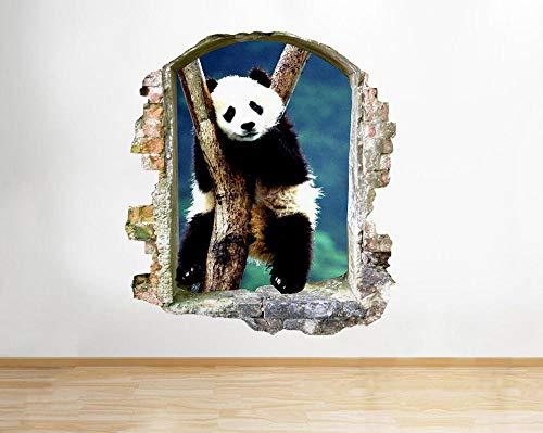 Pegatinas de pared Panda Branch Animal Living Etiqueta de la pared de la ventana pegatinas de arte 3D vinilo habitación