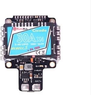SunriseModel Cicada AIO Flight Controller (F4, 30x4 BLHeli_S DSHOT ESC, OSD, PDB w/BEC, Current Sensor) FPV Drone Racing