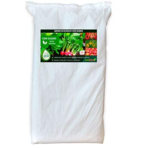 CULTIVERS Abono Ecológico con Guano de 25 kg. Fertilizante Universal de Origen 100% Orgánico y...