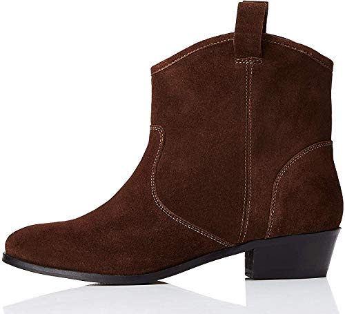 find. Pull On Leather Casual Western Botines, Marrón Brown, 39 EU