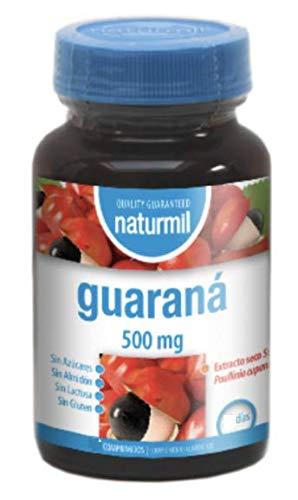 Naturmil Guarana 500 mg 120 tabletten werkzaamheid ter verhoging van de energie-, weerstand- en libenzniveaus. Verhoog je kracht, bestrijdt de schorpus en stress, je krijgt meer vitaliteit.