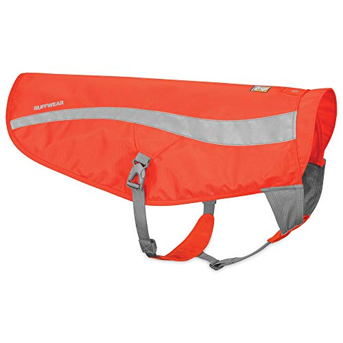 RUFFWEAR, Track Jacket High Visibility Reflective Safety Jacket for Dogs, Blaze Orange, Large/X-Large
