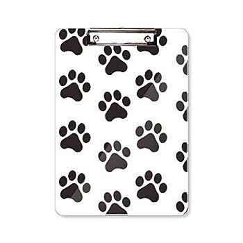 Cat Animal Cute Paw Print Silhouette Footprint Clipboard Folder Writing Pad Backing Plate A4