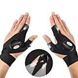 LED Flashlight Gloves 1 Pair Outdoor Fishing Gifts for Men LED Light Gloves for Men/Women, Working...