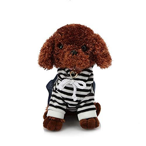 GIRISR Plüsch Hundespielzeug Kinder Schöne Stofftiere Simulation Tier Puppe Plüsch Schlafende Hunde PP Baumwolle Füllen Für Kinder,Schwarz,a
