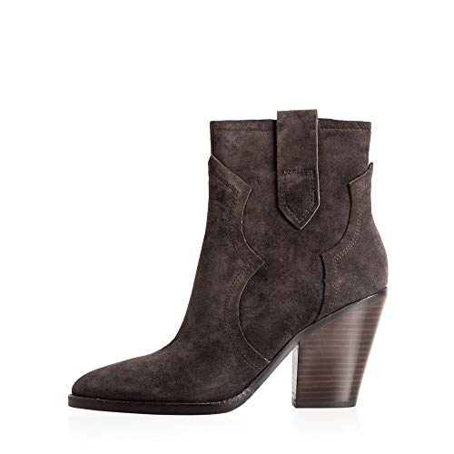 Ash Footwear Esquire Brown Suede Heeled Boot 40 EU Marron