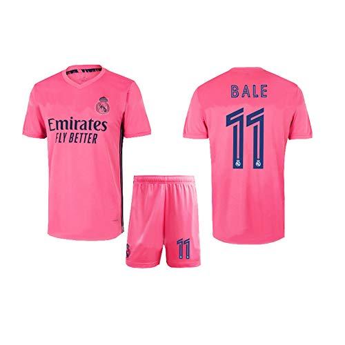 LCHENX-Herren und Jungen Fans Fußballtrikot Real Madrid # 11 Gareth Bale-Anhänger Fußballtrikotsetse,Rosa,S
