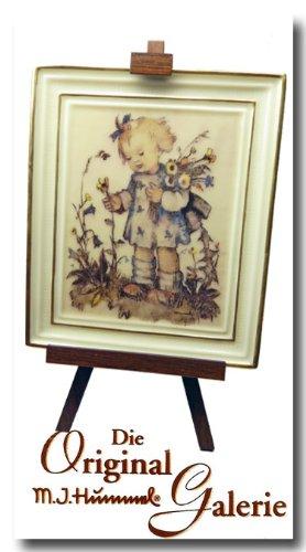The Original M. J. Hummel Gallery ** Blumenkind ** 350001 * mit Zertifikat, Handbemalt, Porzelan Bild mit Staffelei