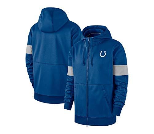 SHR-GCHAO Hombres Camiseta De Manga Larga con Capucha De Impresión En 3D del Equipo De Fútbol De La NFL Pullover Sudaderas, Indianapolis Colts NFL con Capucha Sudaderas,L(170~175cm)