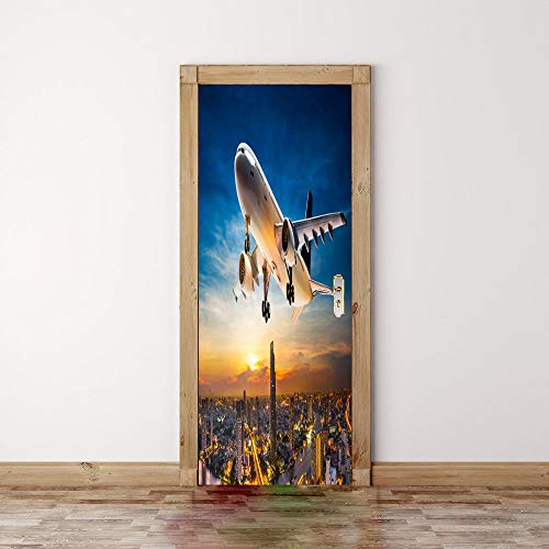 3D Etiqueta De La Puerta,Aviones Tatuajes De Pared Diy Impermeable Extraíble...