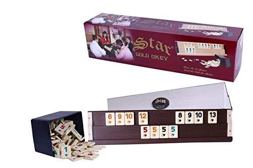 Unbekannt staroyun staroyun101025913,5x 52,5x 12cm Star Gold Holz Rummy Set