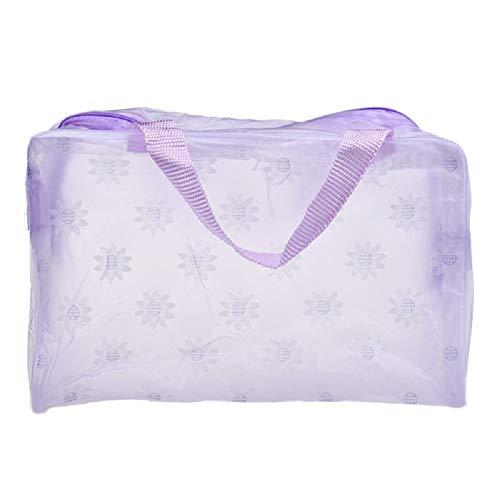 OSYARD Damen Tragbare Kosmetik Taschen Frauen Make-up Bag, Transparent Wasserabweisend Reise Toilettenartikel Organizer Zahnbürste Pouch,23cm*13cm*9cm