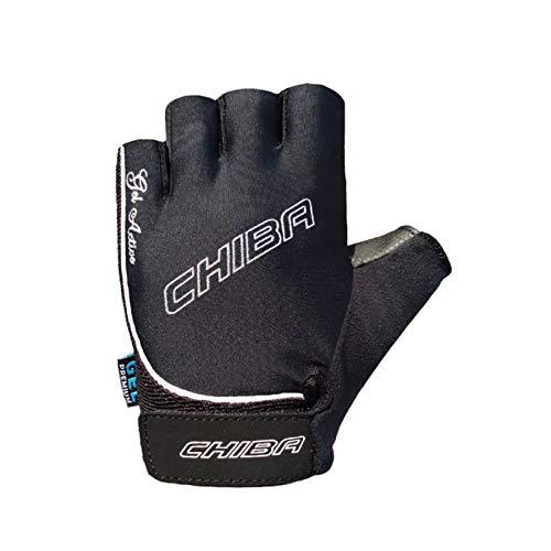 Chiba Damen Handschuh Gel, schwarz, XS