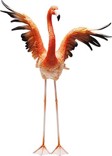 Kare Design Deko Figur Flamingo Road Fly 66cm, große Dekofigur Flamingo, Tierfigur Pink, Dekoobjekt Flamingo fliegend, (H/B/T) 66x50x28cm