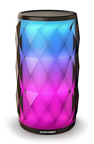 Cassa Bluetooth Altoparlante Speaker Portatili Stereo Hi-Fi Bassi Potenti, casse Luce LED da Cambia Multi-colore, Chiamate Vivavoce, Campeggio,Casa,Festa,Viaggio.……