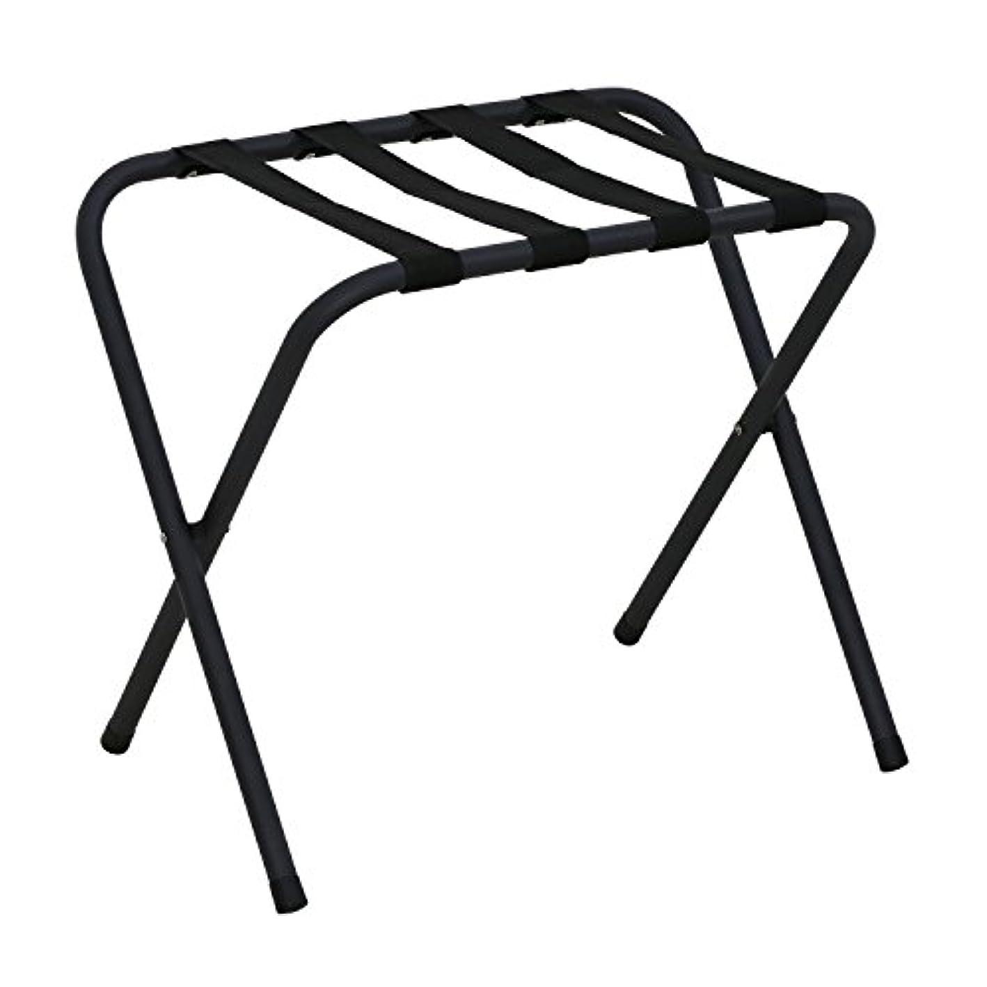 Furinno FLR1601 Foldable Luggage Rack, Black