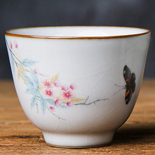 HDOUBR Taza de té de Ruya china Taza de té antigua Jingdezhen...