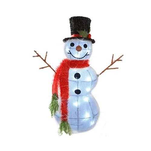 Sitting Snowman Christmas Decoration Hot Pink /& Purple Size 35cm