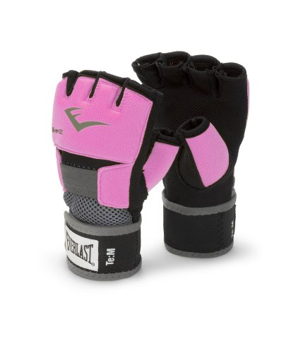 Everlast Ever-Gel - Guantes de boxeo para mujer (con gel) color rosa,