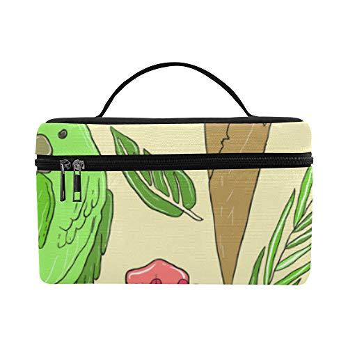 Bolsa cosméticos para Mujeres Helado Loro Pájaro Señora Gran tamaño Bolsa cosméticos...