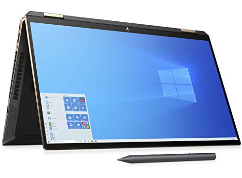 HP Spectre X360 15-eb0001na 15.6' 4K AMOLED IPS 2in1 Laptop - Core i7 10510U, 16GB DDR4, 2TB SSD, Nvidia GeForce GTX 1650 Ti 4GB, WIFI 6 & Bluetooth 5, Windows 10 Pro – UK Keyboard Layout (Renewed)