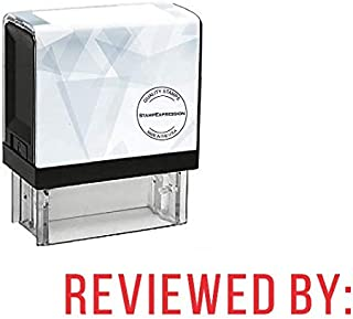 StampExpression - REVIEWED by Office Self Inking Rubber Stamp - Red Ink (A-5380)