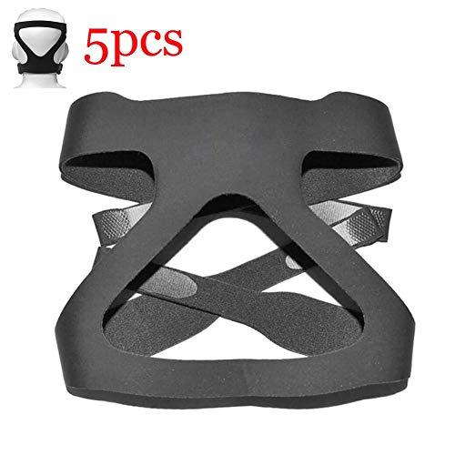 Summer Universelle Cpap-Kopfbedeckung ersetzt Bequeme 4-Punkt-Kopfbedeckungsgurte für Philips Respironics Cpap-Maske 5-TLG