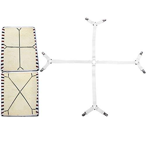Eagsouni® 3-Wege Verstellbare Bettlaken Spanner Bettlakenspanner Betttuchspanner, Criss Cross Spannbettlakenhalter unter Matratze Bett Bänder