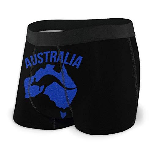 Drempad Boxer Aderenti da Uomo, Men's Boxer Brief Australia Souvenir Protection Boxershorts Slip Boxer Pantaloncini
