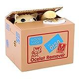 Coco Brazo eléctrica Hucha Infantil Money Box automática Hucha Hucha Animales stehlen Garra Monedas (Amarillo Gatos)
