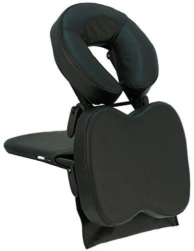 Taoline Travel Mate, tafelopzetstuk met verstelbare hoofdsteun voor mobiele massage, in plaats van massagestoel, klein en licht, inclusief draagtas zwart