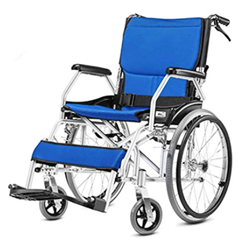 ShiSyan Carrozzina Leggera Supplies Guida Medica for Adulti Medici, Pieghevole Sedia a rotelle in Lega di Alluminio Portable di Viaggio Piccolo Anziani Trolley Sedia a rotelle