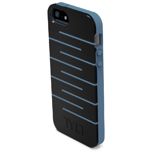 Tylt IP5DPZZGR-T ZIG ZAG Protective Case for iPhone 5 - Retail Packaging - Gray