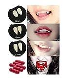 MAKFORT Halloween Vampire Fangs Deguisement Halloween Dents de Vampire Adultes Déguisement Halloween Vampire Accessoire Fang Dents