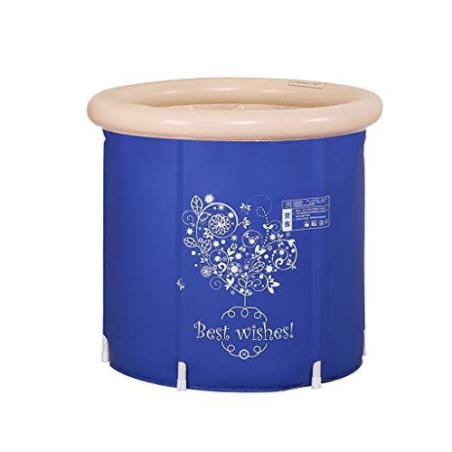 Baignoire pliante gonflable, baignoire portative bleue , piscine plus épaisse d'isolation plus épaisse d'isolation pour adultes à la maison, bains de siège de bassin de douche d'air de voyage pliable