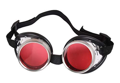 Fun - Schraubringbrille / Schweißerbrille mit roten Gläsern