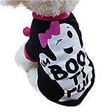 Fossrn Perro Ropa Disfraz Halloween Camiseta para Pequeño Chihuahua Yorkshire Mascota Cachorros (S,...