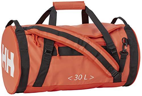 Helly Hansen HH Duffel Bag 2 30L Bolsa de Viaje, Unisex Adulto, Ebony/Cherry Tomate