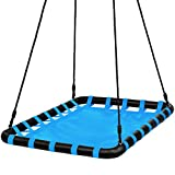 Best Choice Products 40x30in Kids Large Heavy-Duty Mat Platform Tree Spinning Swing...