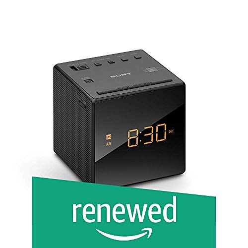 Sony ICFC-1 Alarm Clock Radio LED Black (Renewed)
